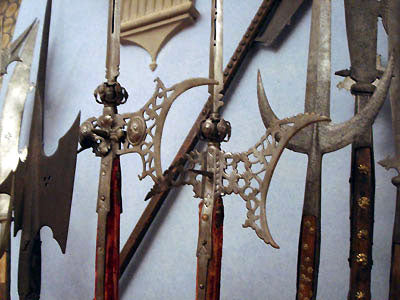 such beauty in metal sword heads designed to kill Bardini Museum Florence Italy