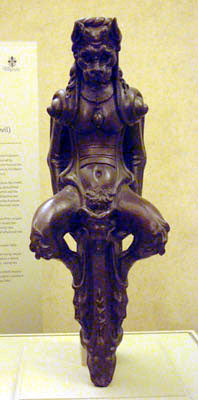 Architectural gargoyle that looks like inspiration for The Grinch by Dr. Seuss Bardini Museum Florence Italy