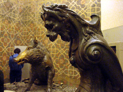 Inspiration for Dr. Seuss ' The Grinch that Stole Christmas? Stefano Bardini Museum in Florence, Italy