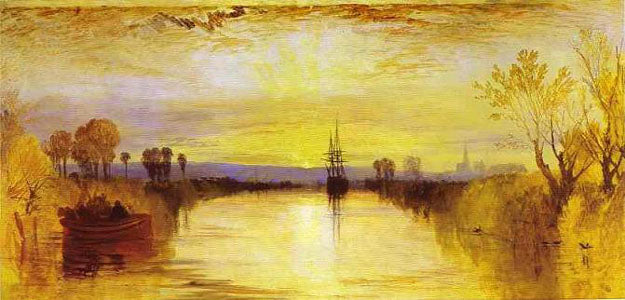 """Chichester Canal"" c. 1828 by JMW Turner"