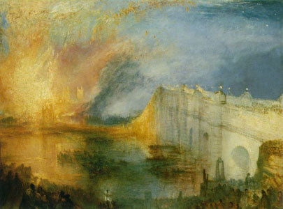 """The Burning Of The Houses Of Lords And Commons"" 1835 Oil on Canvas @ 92 x 123 cm by JMW Turner"