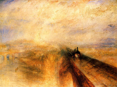 """Rain, Steam And Speed - The Great Western Railway"" 1844 oil on canvas @ 91 x 122 cm by JMW Turner oil painting"