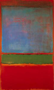 """Violet, Green, Red"" 1951 painting by Mark Rothko"