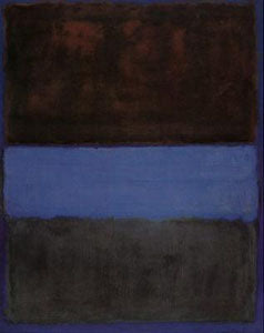 """No. 61 - Brown Blue Brown"" 1953 painting by Mark Rothko"