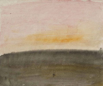 """A Pink Sky Above a Grey Sea"" c. 1822 guache + watercolor by JMW Turner"