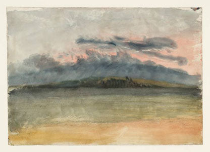 """Storm Clouds - Sunset with a Pink Sky"" c. 1824 painting by JMW Turner"