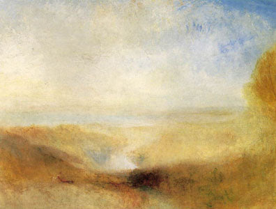 """Landscape with Distant River and Bay"" circa 1840-50 94 x 124 cm oil painting by JMW Turner"