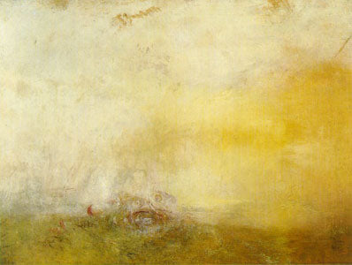 """Sunrise With Sea Monsters"" c. 1845 92 x 122 cm oil painting by JMW Turner"