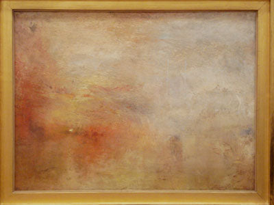 """Sun Setting Over a Lake"" c. 1840 91 x 123 cm oil painting by JMW Turner"