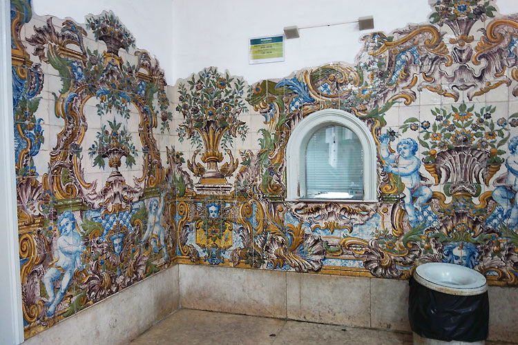 Sintra Train Station Portuguese Blue Azulejos Ceramic Tile Mosaic Art Portugal