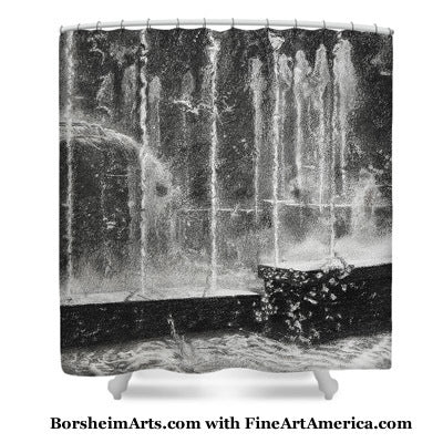 Artwork on Shower Curtain in Fine Art America Borsheim Store