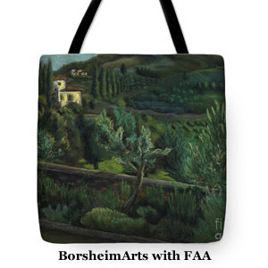 Borsheim Landscape drawing on Tote Bag Fine Art America store