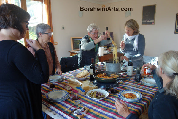 An Amazing Lunch Provided by Kathy Edwards of Little Tuscan Olive Farm