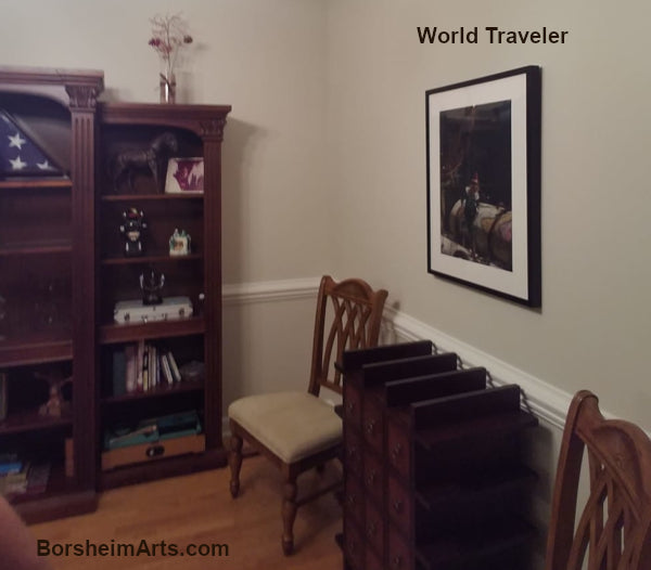 'World Traveler,' pastel at Stephen's Lake House, Hickory, North Carolina