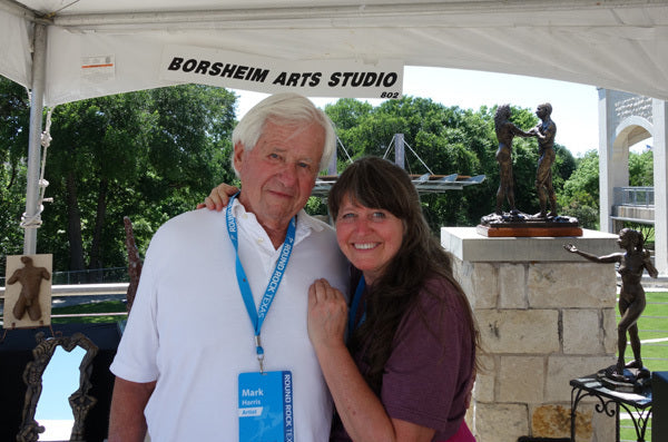 Returning to my roots at SculptFest, here with sculptor Mark Yale Harris, we took our first stone carving class together. What a sweetheart he is!