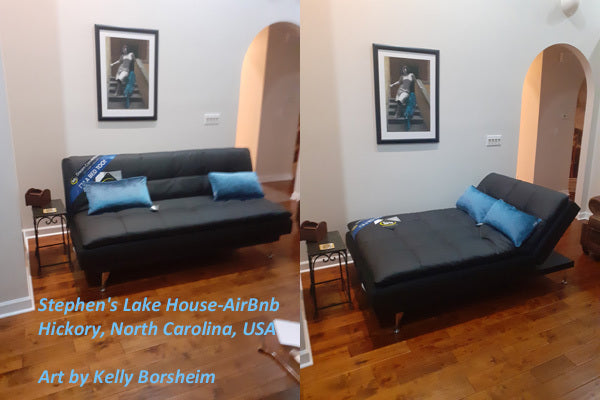 Blue Panther Art Matching Couch Buy Art