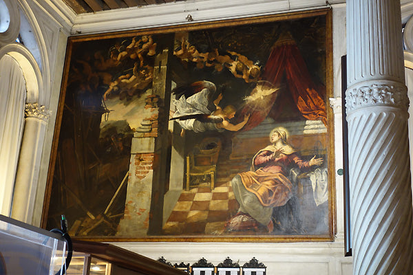 Tintoretto and son Annunciation Painting Scuola di San Rocco Venice Italy