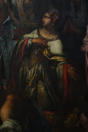 Clothing painted on figure painting woman drapery La Grande Scuola di San Rocco, Venice