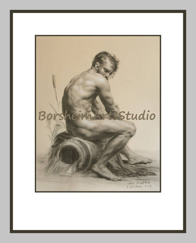 Classical art drawing by Kelly Borsheim, available as a digital download