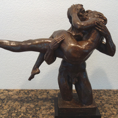 The Kiss a sensual bronze sculpture by Charles Umlauf is for sale Austin, Texas