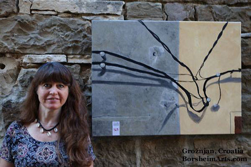 Grisignano in Istria Croatia Art made in 6 hours for art competition Kelly Borsheim artist