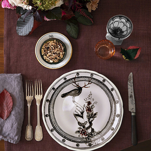 Designer plate Bird on the Hand collector elegance for fun dining by Dragana Adamov
