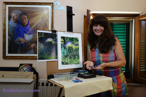 YouTube and Patreon patrons get behind-the-scenes in the artist's studio of Kelly Borsheim, subscribe now to be included