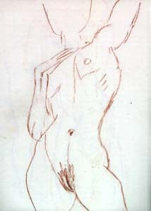 The inspirational 1-minute gesture sketch from live model.