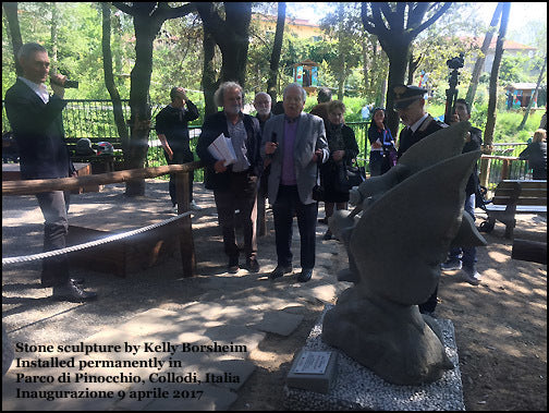 Art Reception for all stone sculptures from Symposium in Vellano into the Pinocchio Park Collodi Tuscany Italy