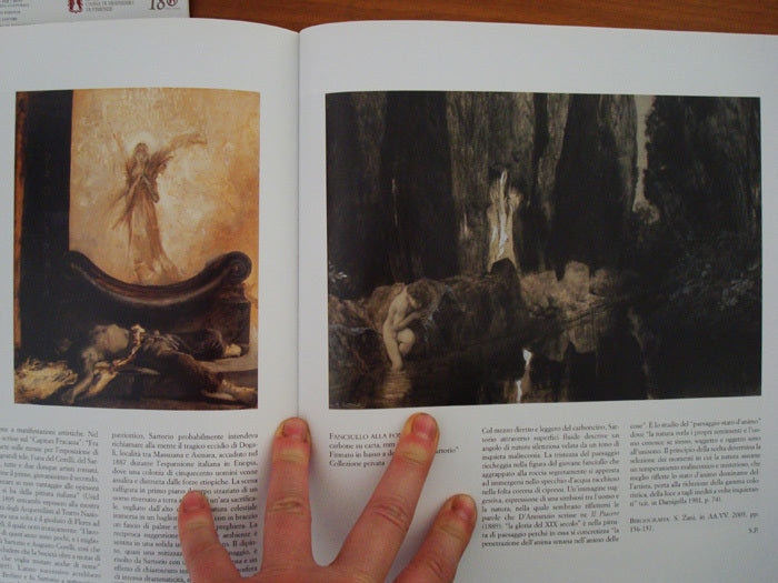 Art of Sartorio inspired the environment for The Curiosity of Pandora Painting