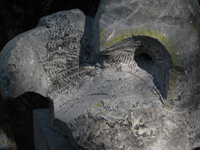 Carving in Progress Marks on Stone Encounter Manta Ray Sculpture Marble