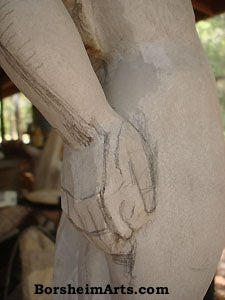 Designing a Hand in a Marble Carving Offering Vulnerability