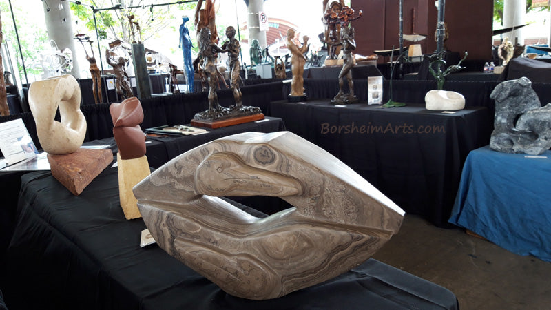 Art Exhibit Sculpture at the River Market Pelican Lips Little Rock Arkansas