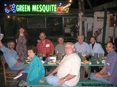Green Mesquite BBQ Austin Texas Group of Sculptors and Sculpture Students