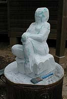 Carving the Marble Woman Stargazer