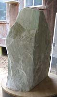 Natural Colorado Yule Marble with Gold and Green Veining ~ Before Carving