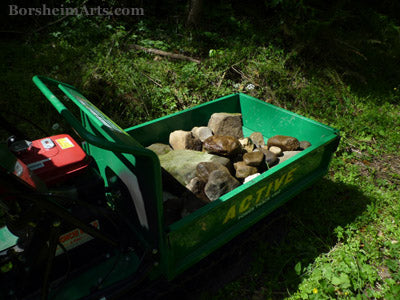 Hauling River Rocks from Valleriana Tuscany for Sculpture Models