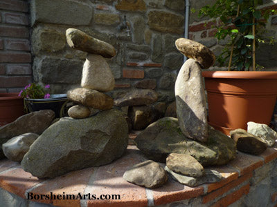 No stones were harmed in the making of these rock towers.