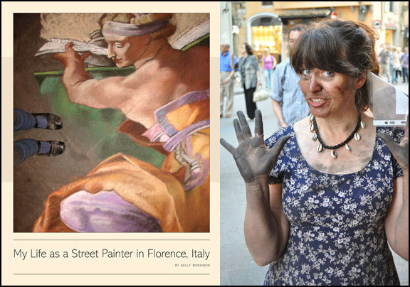 Book Cover My Life as a Street Painter in Florence Italy