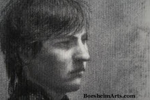 Load image into Gallery viewer, Detail Head Fellow Art Student Anthony Charcoal Drawing Portrait of Young Man