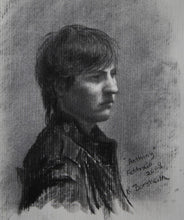 Load image into Gallery viewer, Anthony Charcoal Drawing Portrait of Young Man