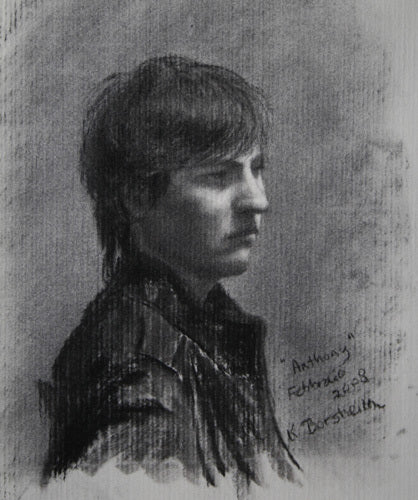 Anthony Charcoal Drawing Portrait of Young Man