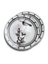 Load image into Gallery viewer, Order 2 plates Dragana Adamov Collection Plate Bird with Antlers on Hand with snake and roses