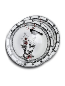 Order 2 plates Dragana Adamov Collection Plate Bird with Antlers on Hand with snake and roses