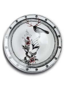 Dragana Adamov Collection Plate Bird on Hand Collector Plate Designer Plate