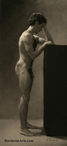 Francesco Standing Male Nude Classic Style Drawing