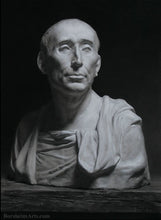 Load image into Gallery viewer, Niccolò da Uzzano Portrait after Donatello Charcoal and Pastel on Grey Paper Portrait Art