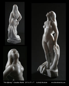 The Offering Vulnerable Woman Sculpture Canadian Marble