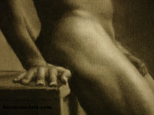 Load image into Gallery viewer, Detail Man s Hand Hips Second Thoughts Classical Drawing of Nude Male Figure