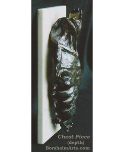 Chest Piece Male Nude Bronze Bas Relief Wall Hanging or Tabletop Sculpture